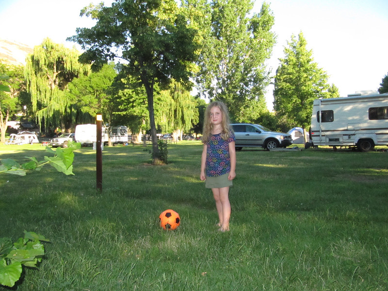 A little soccer time while camping.