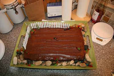 Kristina's birthday cake - wth fresh worms!!!