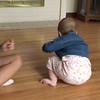 Arianna crawling, June 23rd, 2016