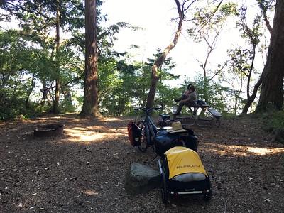 campsite; Shaw Island