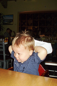 Joey entertains at dinner at Bistro 33 with the Grandmas