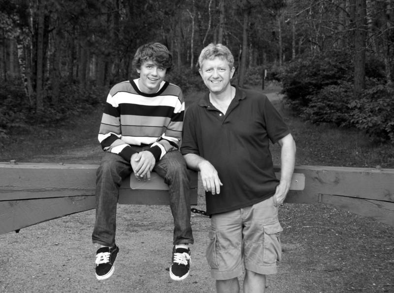 Matt and Me at Bemidji State Park - summer 08