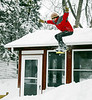 Matt going off the roof - winter of 2006