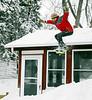 Matt going off the roof - winter of 2006