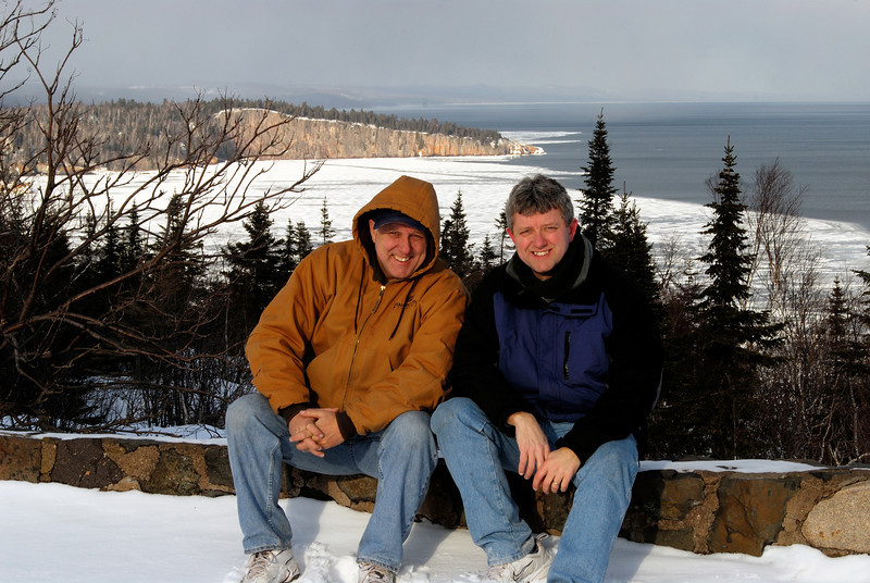 Dan and me at Tettegouche State Park - Feb/2008