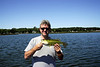Enjoying a day fishing on Clearwater Lake, Wright County