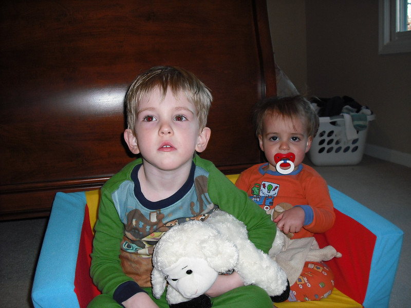 Brothers watching Handy Manny