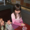 Kaela and Eliana at Jack in the Box