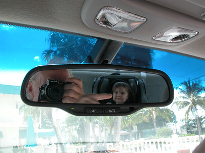 ...Grandpa and Granddaughter in the Buick mirror...