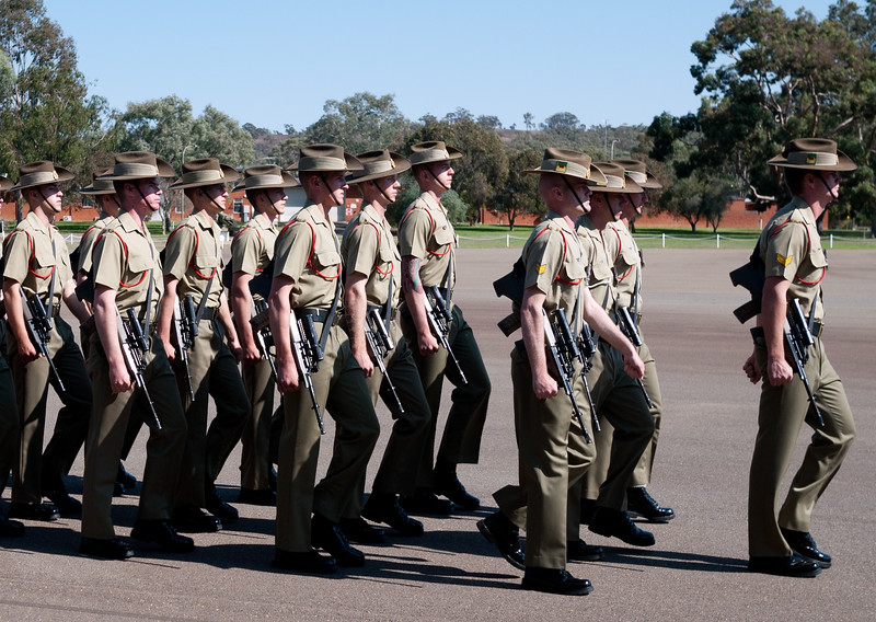 Kapooka, 12 Platoon Bravo Company, March-out (12 April 2013)<br /> <br /> Tom in front middle.