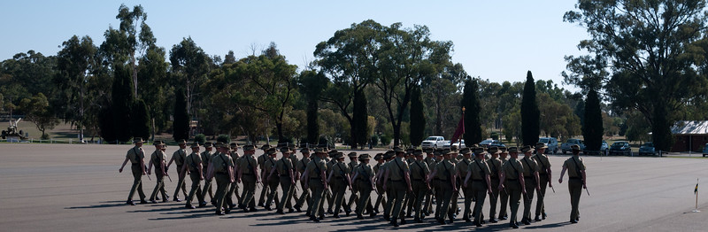 Kapooka, 12 Platoon Bravo Company, March-out (12 April 2013)
