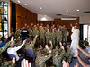 Kapooka, 12 Platoon Bravo Company, March-out (12 April 2013)<br /> <br /> Greeting the newest Australian soldiers at the end of chapel.
