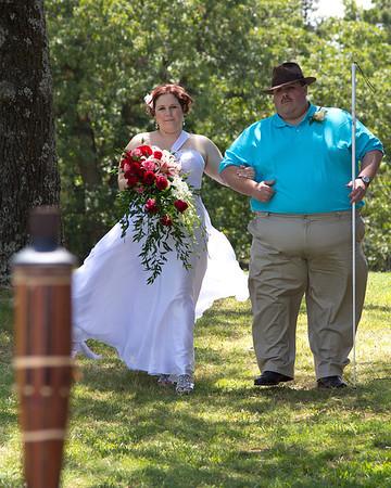 Kara & Her dad (Daryl Swinson) coming down the aisle
