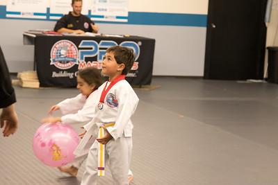 Karate-Orange stripe belt test