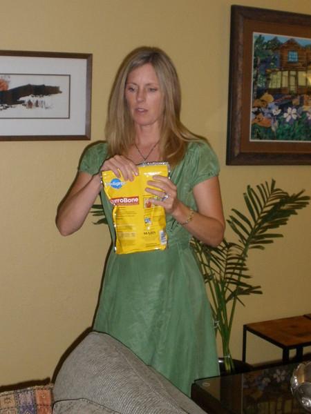 Karen and the dog's food