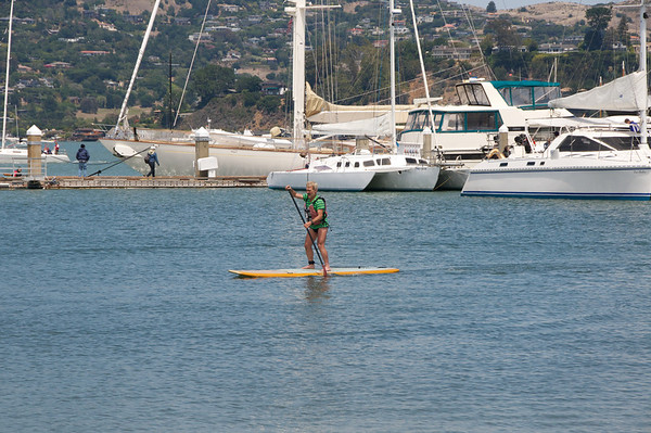 Pierre on the SUP board
