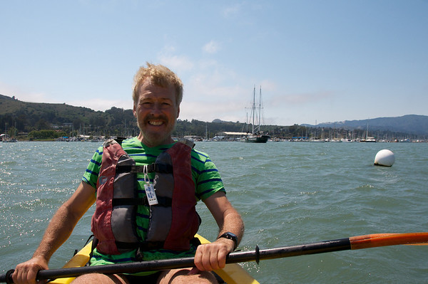 Pierre with the Sausalito hills behind him to the left and Tamalpias to the right