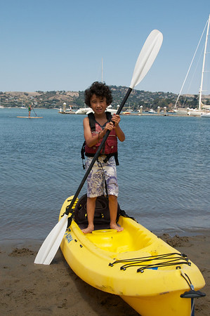 Jaden is the cutest kayaker