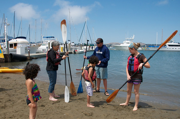 Getting some kayaking tips from the rental guy at Sea Trek in Sausalito