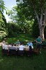 breakfast in our backyard for the best men and other family members