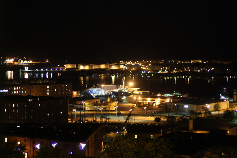 Night view from Holiday Inn