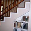 Bookcase set into the stairs