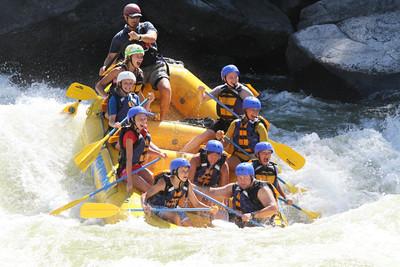 Katelyn and Hannah - Whitewater rafting July 28, 2012