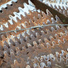 Rusty Forked Metal Junk Pattern
