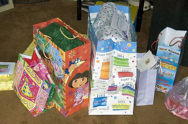 """<br><br><font size=""""3"""">The birthday loot.</font>"""
