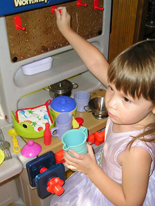 Busy in the kitchen.