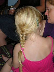 All this lovely blonde hair. Ah, to be 4 again!