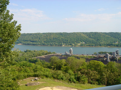 More of the view of the Ohio River.