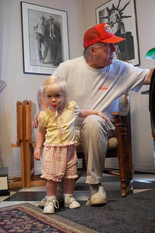 Katie and Dick Menard, granddaughter and grandfather, 2005