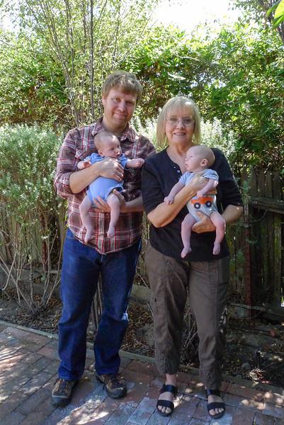 Dan holding Hulk & Grandma Kathy holding Thor