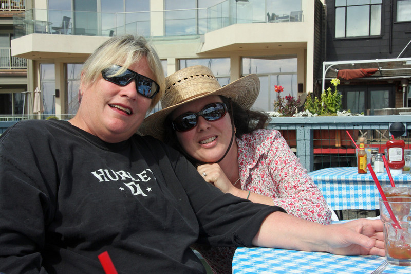 Kathy and Alison