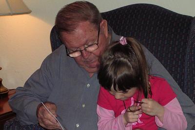 Rachel Kane Visit to Texas - Reading with Joe Gipson before Dinner at KK's House