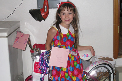 Celebrating Rachel's 8th Birthday in Fort Collins - new bicycle!