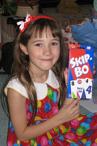 Celebrating Rachel's 8th Birthday in Fort Collins - 'grown-up' Skip-Bo cards from Cheryl and Berta
