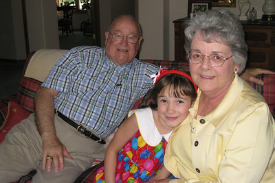 Celebrating Rachel's 8th Birthday in Fort Collins - with Grandma and Grandpa