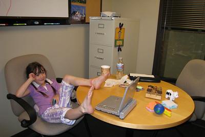 Rachel at KK's office