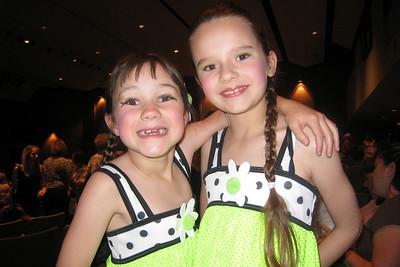 Rachel and Tara at Dance Recital