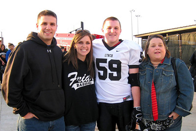 Will Muessig joined the Varisty Defensive Team for the 2008 Playoff Games - The BL Friars won this game but lost at the State Finals - The Playoff games were played at the Killeen Football Stadium