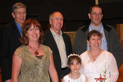 Rachel's First Communion and Tracy's RCIA - Easter Vigil Service at Natavity of Our Lord Catholic Church - Tracy's cousin Lori and her husband drove up from Castle Rock; Dean flew in from Las Vegas