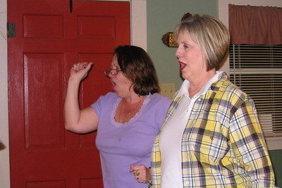 Grady and Mary Clare drove to Denison to visit with Bill and Myra in April - It's always a great excuse for dinner and a party! Cheryl and Kelley cutting the rug Bill and Myra: Russ, Cheryl, and Caroline; Michael, Kelly, Kasen and Summer; Kelley, Chuck and Kane; Robert; David; Kathy; Shorty and Cheryl Giacomazzi