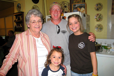 Grady and Mary Clare drove to Denison to visit with Bill and Myra in April - It's always a great excuse for dinner and a party! Mary Clare, Robert, Caroline and Summer in the kitchen Bill and Myra: Russ, Cheryl, and Caroline; Michael, Kelly, Kasen and Summer; Kelley, Chuck and Kane; Robert; David; Kathy; Shorty and Cheryl Giacomazzi