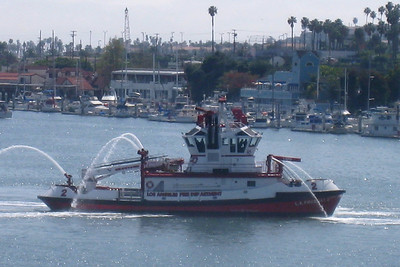 Mexican Riveria Cruise – Norwegian Star on Norwegian Cruise Lines Day 1 – Sat, 3/20 – Sail Away Entertainment – Stardust Welcome Aboard Show View from our balcony – The LAFD Fire Boat #2 put on quite a show as we left the Port of Los Angeles - 5 minutes elapsed from when I noticed the waterworks to the end