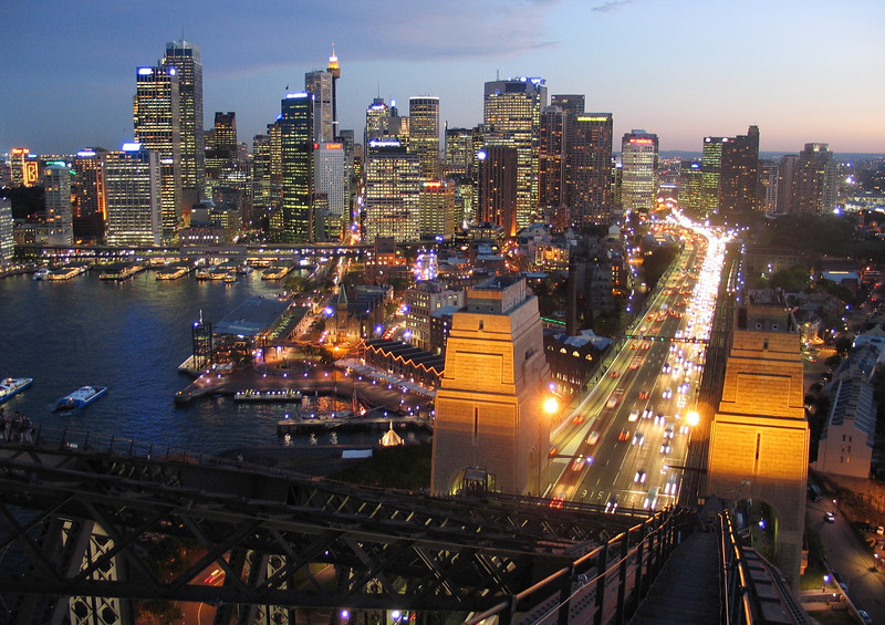 View from Sydney Harbour Bridge. Photo courtesy of BridgeClimb