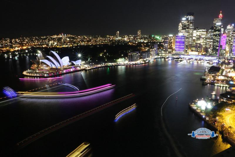 View of Sydney from Sydney Harbour Bridge. Photo courtesy of BridgeClimb
