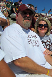 Texas Aggie - Baylor Weekend - October 14-16, 2011 David and Nancy drove from Harker Heights for her birthday weekend!