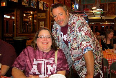 Texas Aggie – Baylor Weekend – October 14-16, 2011 Dinner at Rudy's before Midnight Yell